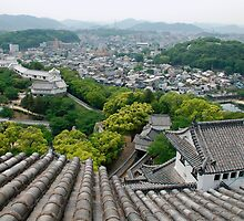 Roof View at Himeji Castle  by jojobob