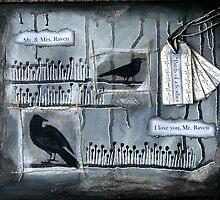Mr & Mrs Raven Canvas by Rosie Rowe