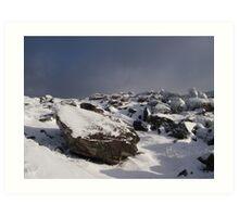 Snow on Mangerton Mt. Killarney Co.Kerry Art Print