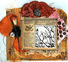 The Jenny Wren corrugated cardboard collage! by Rosie Rowe