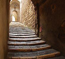 Stepped Street in Pitigliano by jojobob