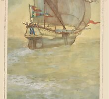 Shakespeare's Comedy of The Tempest - Art by Edmund Dulac - 1915 - 0181 - Prospero - Calm seas, auspicious gales by wetdryvac