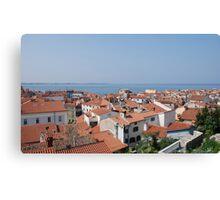 Piran Rooftops  Canvas Print