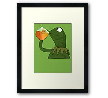 Kermit sipping tea Framed Print