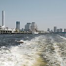 Boat Wake in Tokyo Waterway  by jojobob