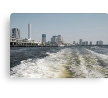 Boat Wake in Tokyo Waterway  Canvas Print