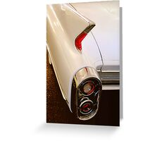 1960 Caddy Fins Greeting Card
