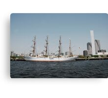 Old Boat in Tokyo Waters  Canvas Print