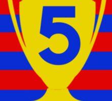 FC Barcelona - 5 times Sticker