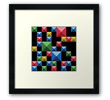 Super tetris Framed Print