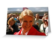 Helle Thorning Schmidt Greeting Card