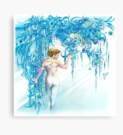 """""""FEBRUARY"""" from """"Calender Sheets"""" Canvas Print"""