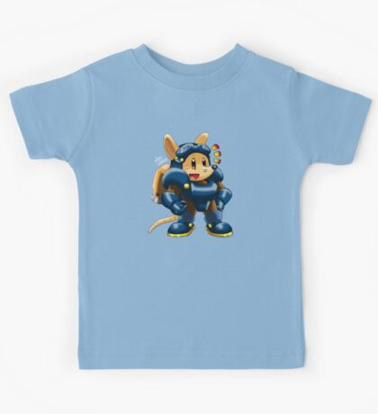 Chibi Sparkster (Full Color and Shading) Kids Tee