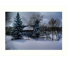 Grant's Old Mill (Winter View) Art Print