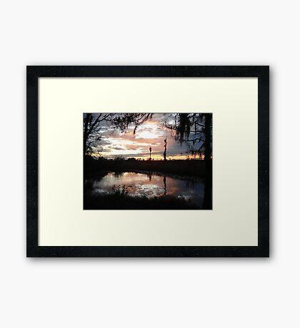 Sunset on Econfina 12-09 Framed Print