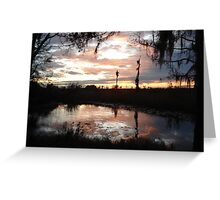 Sunset on Econfina 12-09 Greeting Card