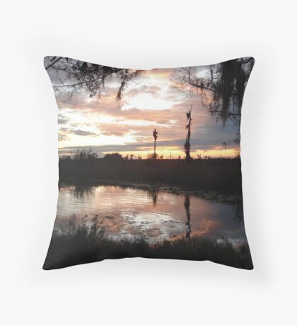Sunset on Econfina 12-09 Throw Pillow