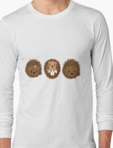 Cute Whimsical Hedgehog Pictures Long Sleeve T-Shirt