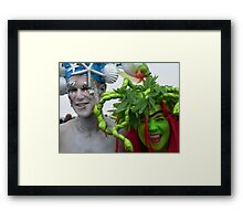 mermaids at Coney Island Framed Print