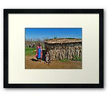Masai Mara house Framed Print