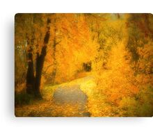 The Pathway of Fallen Leaves Canvas Print