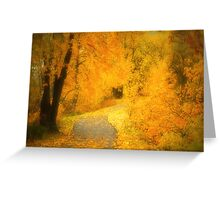 The Pathway of Fallen Leaves Greeting Card