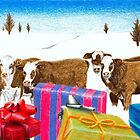 Christmas Bulls by timoteo