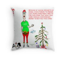 Loud Mouth Louise Merry Christmas 2009 Throw Pillow