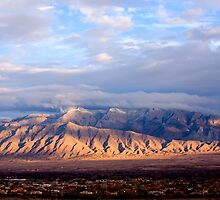 The Sandia Mountains by Albuquerque, NM by doorfrontphotos