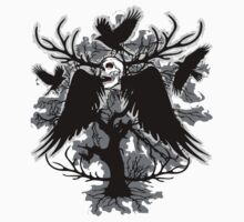 Nightmare Skull and Crows Kids Clothes