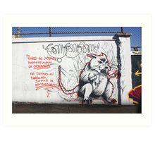 RAT IN THE RUN Art Print