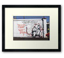 RAT IN THE RUN Framed Print