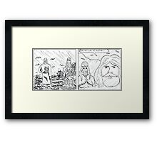 "VIKINGS ""rain"" Framed Print"