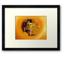 Through The Cheese Hole.... Framed Print