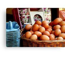Fresh Eggs For Sale Canvas Print