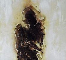 dark entity. 11''x16''. oil on wood. by adam sturch