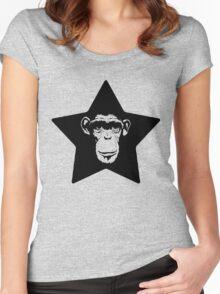 Monkey Superstar Women's Fitted Scoop T-Shirt