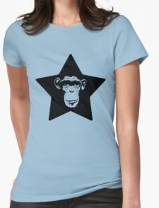 Monkey Superstar Womens Fitted T-Shirt