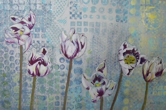 Driveside Tulips by Susan Duffey