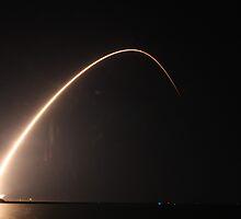 Kepler Streaks into the Night Sky by erauav8r