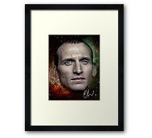 Christopher Eccleston - Former Doctor Who Portrait Painting Framed Print