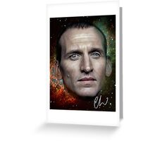 Christopher Eccleston - Former Doctor Who Portrait Painting Greeting Card
