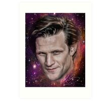 Matt Smith - former Doctor Who - Digital portrait painting  Art Print