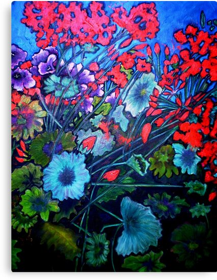 "My Garden - Oil Painting by Belinda ""BillyLee"" NYE (Printmaker)"