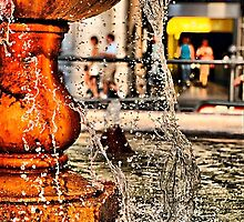 Fountain at Piazza Colonna by andreisky