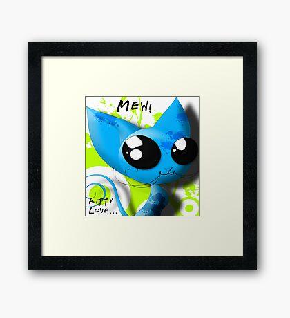 Mew! Framed Print