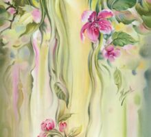 """""""Blossoming Spring (Crab apple)"""" from the series """"Eight Seasons of the Year"""" Sticker"""