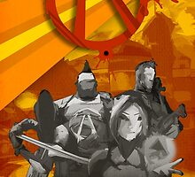 Borderlands 2 - Vault Hunters Poster/Print by SuchPsycho