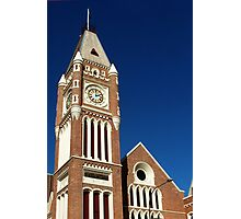 Town Hall Clock Tower, Perth, Western Australia. Photographic Print