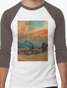 a stunning Austria landscape Men's Baseball ¾ T-Shirt